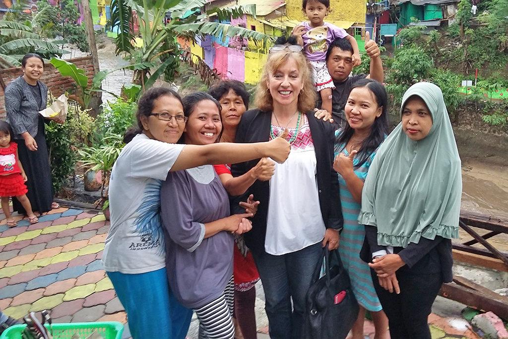 A warm welcome in Kampung Warna-Warni